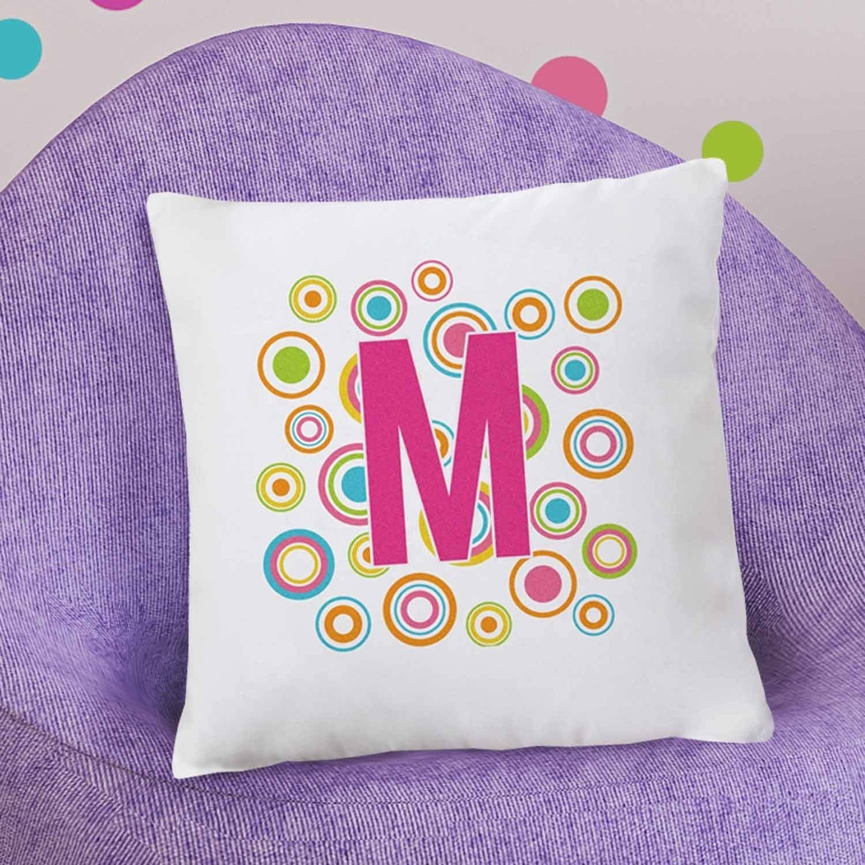 Personalized Circles of Fun Throw Pillow, Monogram