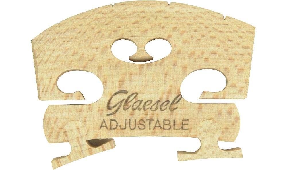 Glaesel Self-Adjusting 3 4 Violin Bridge Medium by Glaesel