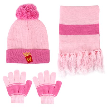 Kids Winter Knitted Set, Vbiger Knitted Hat Scarf Gloves for Kids, 3 Pieces - Michael Jackson Hat And Glove For Kids