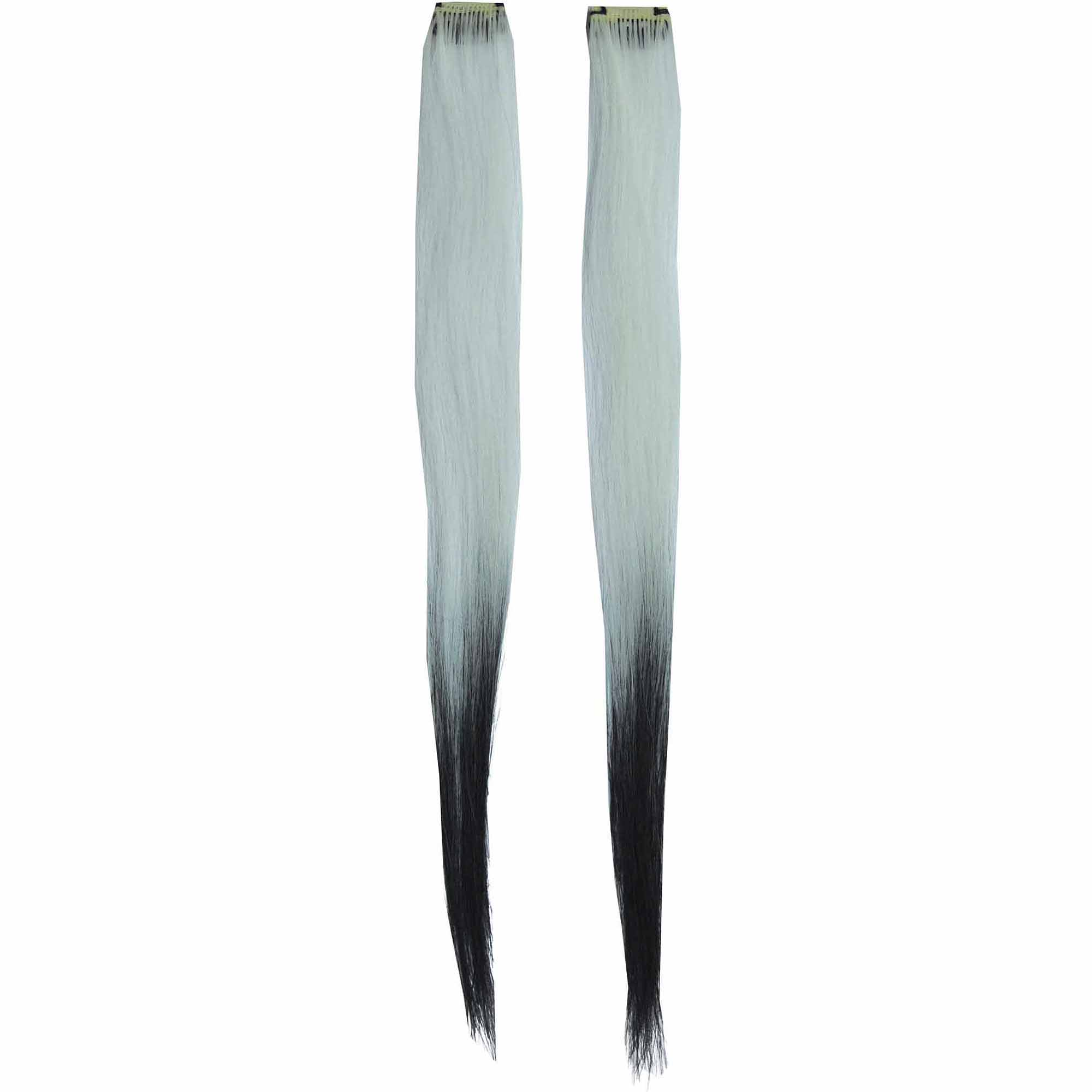 White/Black Fade Hair Extension Adult Halloween Accessory