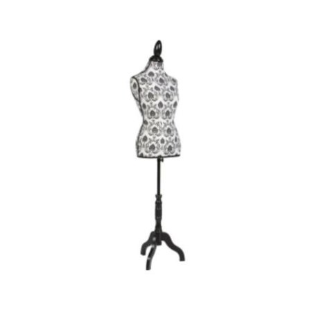 Flower Fork - Zimtown Female Mannequin Torso Dress Clothing Form Display Sewing Mannequin Tripod Stand Black