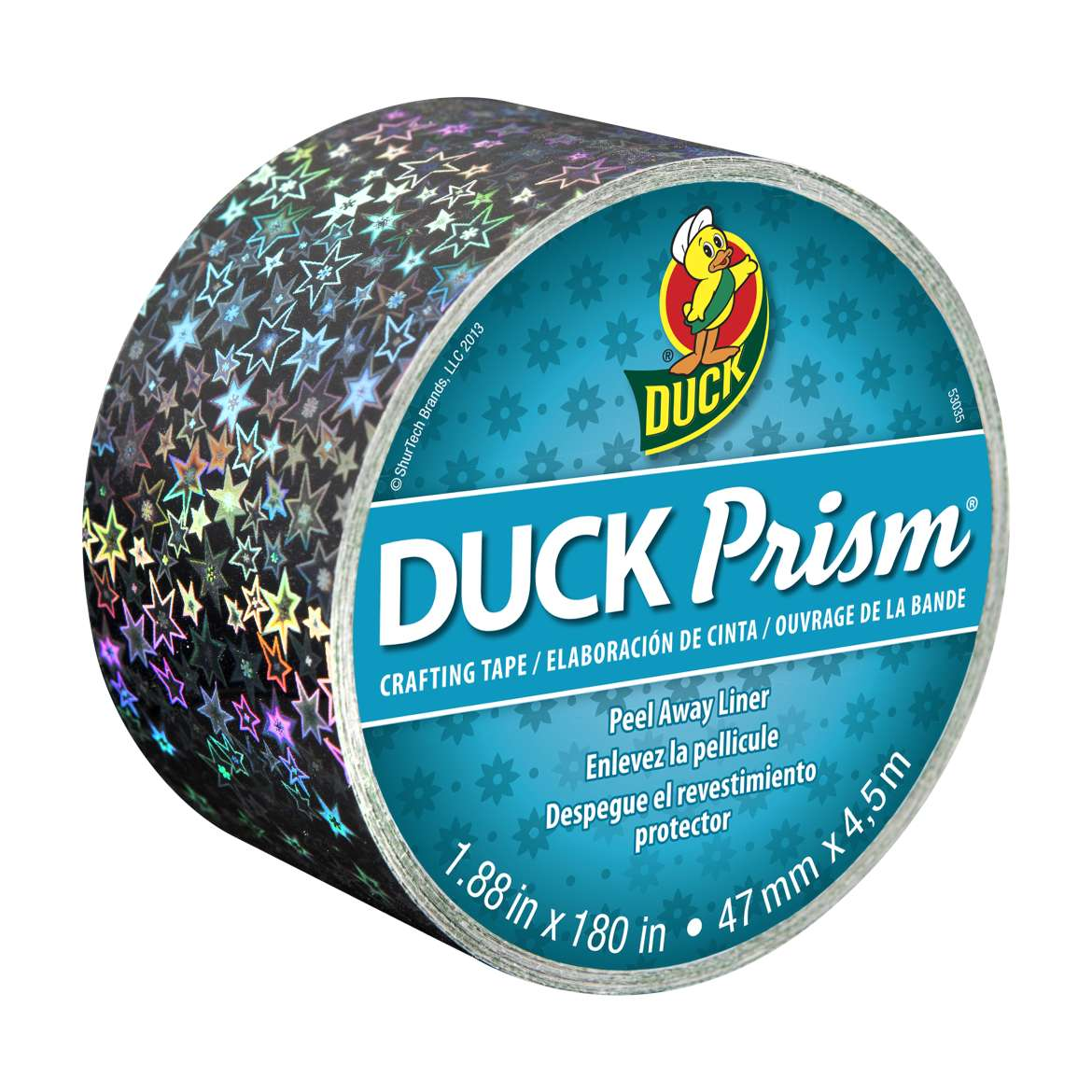 Duck Prism Crafting Tape - Small Stars, 1.88 in. x 180 in.