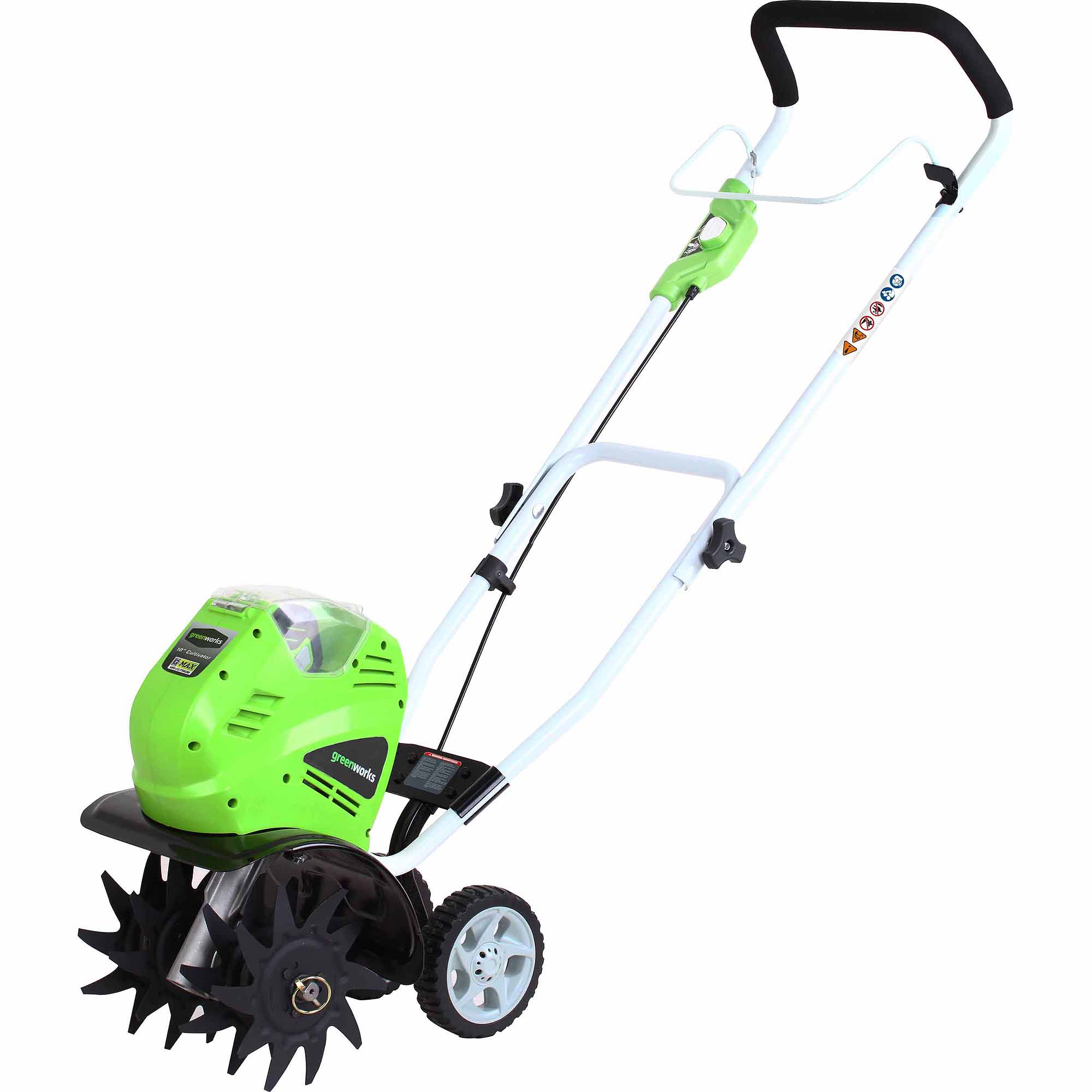 """GreenWorks 27062 40V 10"""" Cordless Cultivator, Includes 4.0Ah Battery and Charger"""