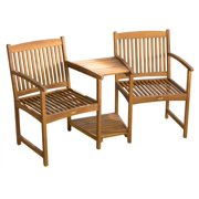 Adjoining Chairs in Natural Finish