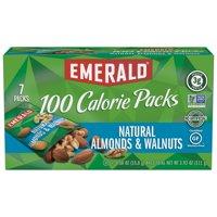 Emerald 100 Calorie Packs Gluten-Free Natural Almonds & Walnuts, 0.56 Oz., 7 Count