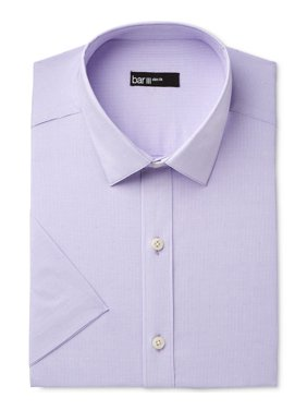 bar iii men's wear me out slim-fit stretch easy care short sleeve dress shirt