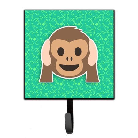 Hear-no-evil Monkey Emojione Emoji Leash or Key Holder -