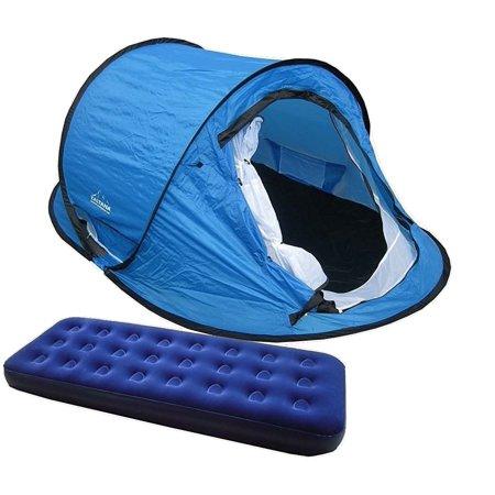 Pop Up Tent With Single Size Air Mattress 73 Quot X29 Quot X7 5