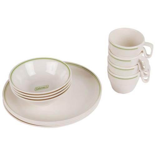 Coleman Melamine 12 Piece Dinnerware Set