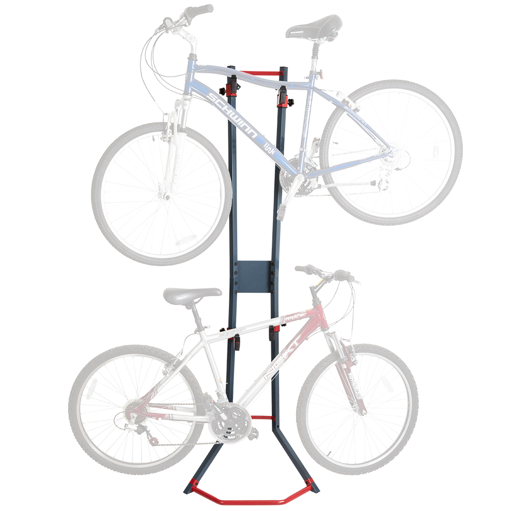2-Bicycle Garage Wall Bike Storage Stand & Vertical Rack