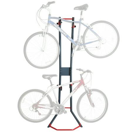 2 Bicycle Garage Wall Bike Storage Stand Vertical Rack