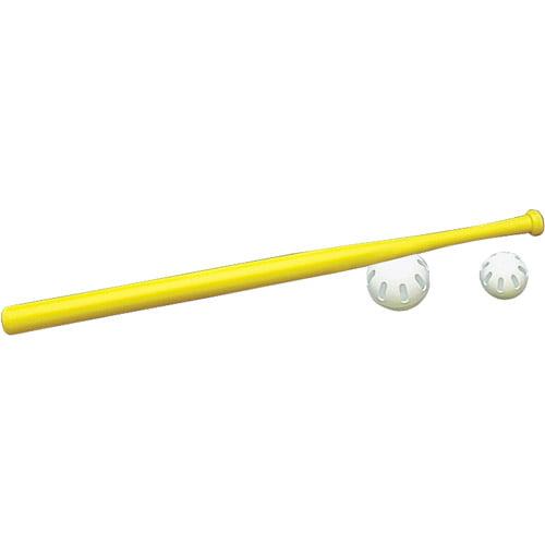 """Wiffle 32"""" Plastic Wiffle Ball Bat, Yellow"""