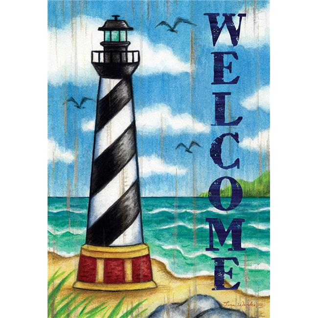 Custom Decor 3130FM Hatteras Welcome Double Sided Garden Flag - image 1 de 1