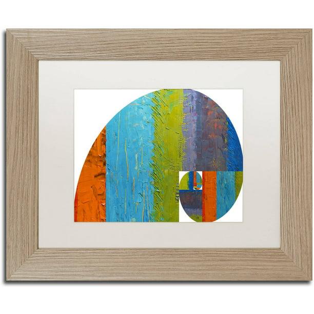 Trademark Fine Art Fibonacci Spiral Canvas Art By Michelle Calkins White Matte Birch Frame Walmart Com Walmart Com