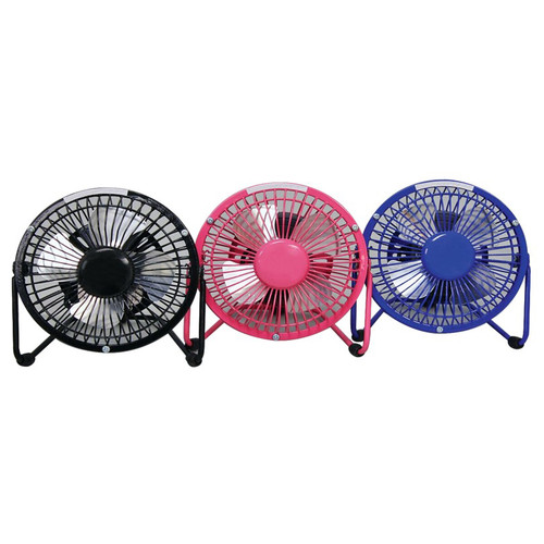 "Cool Works VC-4USB 4"" USB Fan with 5V Adaptor Assorted Colors"