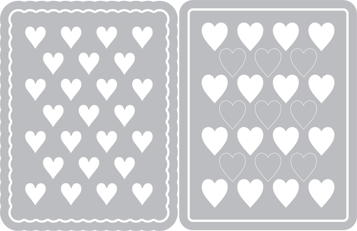 Sizzix Thinlits Dies By Eileen Hull-Hearts Journaling Cards