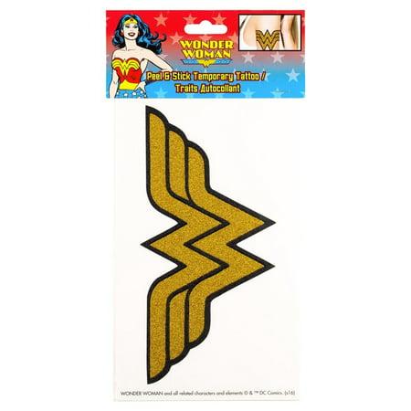 Wonder Woman Peel and Stick Temporary Arm Tattoo](Wonder Woman Tattoo)