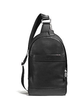 d73cb857ef597 Product Image NEW MENS COACH (F54770) CHARLES LEATHER SIGNATURE PACK BLACK BAG  BACKPACK