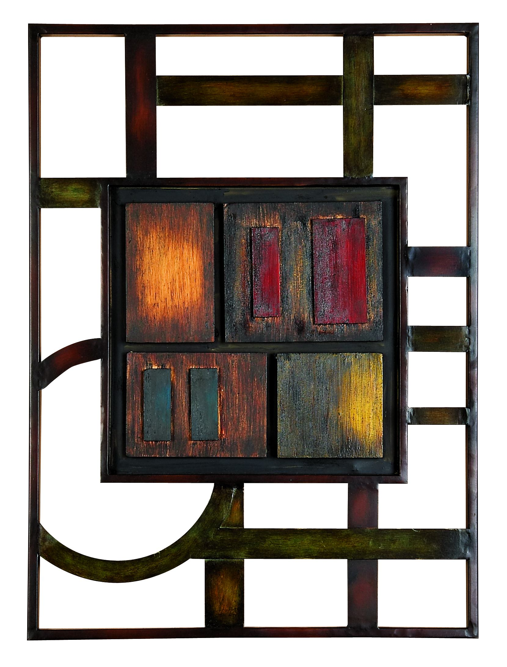 Decmode Modern 27 X 20 Inch Abstract Geometric Metal Wall Plaque by DecMode