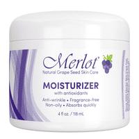 Merlot Natural Grape Seed Moisturizer With Antioxidants, Fast-absorbing, 4 oz