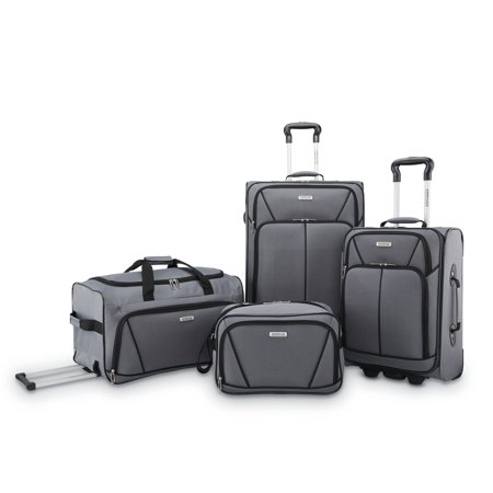 American Tourister 4 Piece Softside Luggage Set American Tourister Mesh Carry On