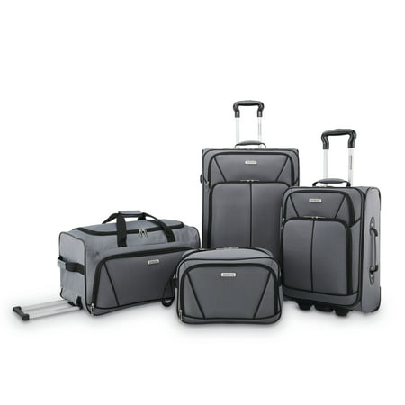 American Tourister 4 Piece Softside Luggage Set American Tourister Lightweight Suitcase