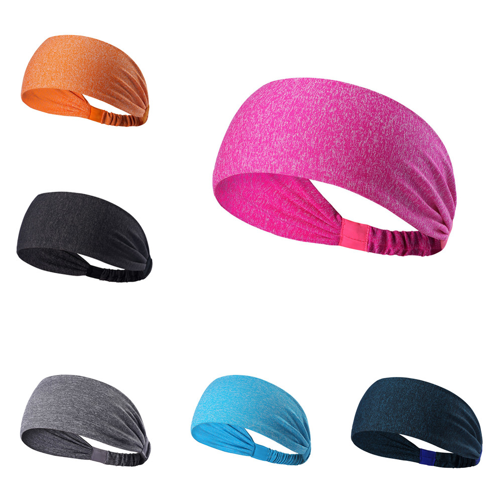 New Wide Sports Headband Stretch Elastic Yoga Running Headwrap Hair Band
