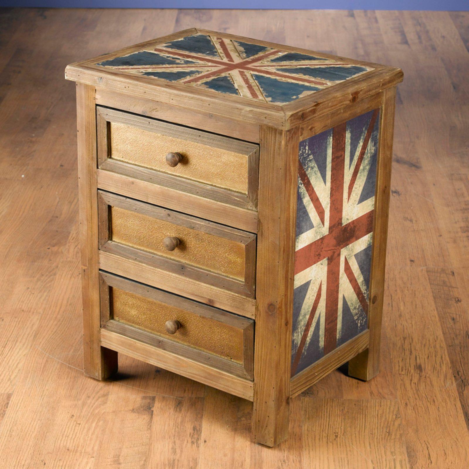AA Importing Britania 3-Drawer Nightstand