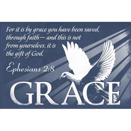 Ephesians 2:8 - Inspirational Print Wall Art By Lantern Press