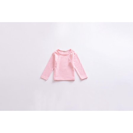 Toddler Kids Baby Girls Soild Candy Color Shirt Cotton Long Sleeve T-Shirt Tops