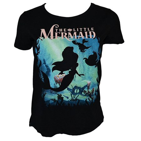 Disney Juniors The Little Mermaid Shirt (Medium) Under The Sea (Black)