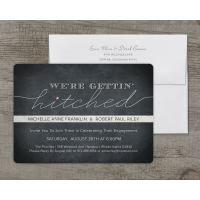 Personalized Wedding Engagement Party Invitation - Getting Hitched - 5 x 7 Flat Deluxe