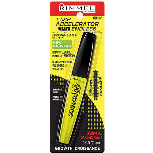 Rimmel London Lash Accelerator Endless Mascara, 001 Black, 0.33 fl oz