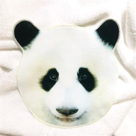 Hemings HEM-1423106 7.6 x 7.8 in. Motif Imabari Funny Animal Face Hand Towel - Panda (Panda Hand Towel)