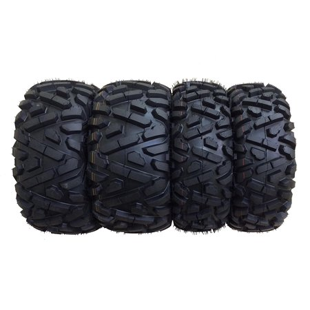 Set of 4 New ATV Tires AT 25x8-12 Front & 25x11-10 Rear 6PR P350 - 10163/10249 (611 Front Tire)