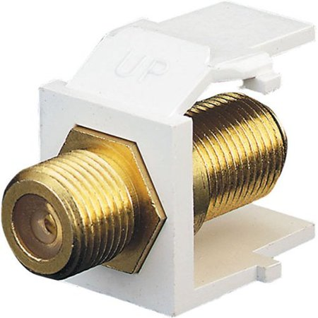 Leviton R0240831W Gold Plated 'F' Speaker Jacks In White ()