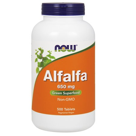NOW Supplements, Alfalfa 650 mg source of Vitamin K, 500 Tablets