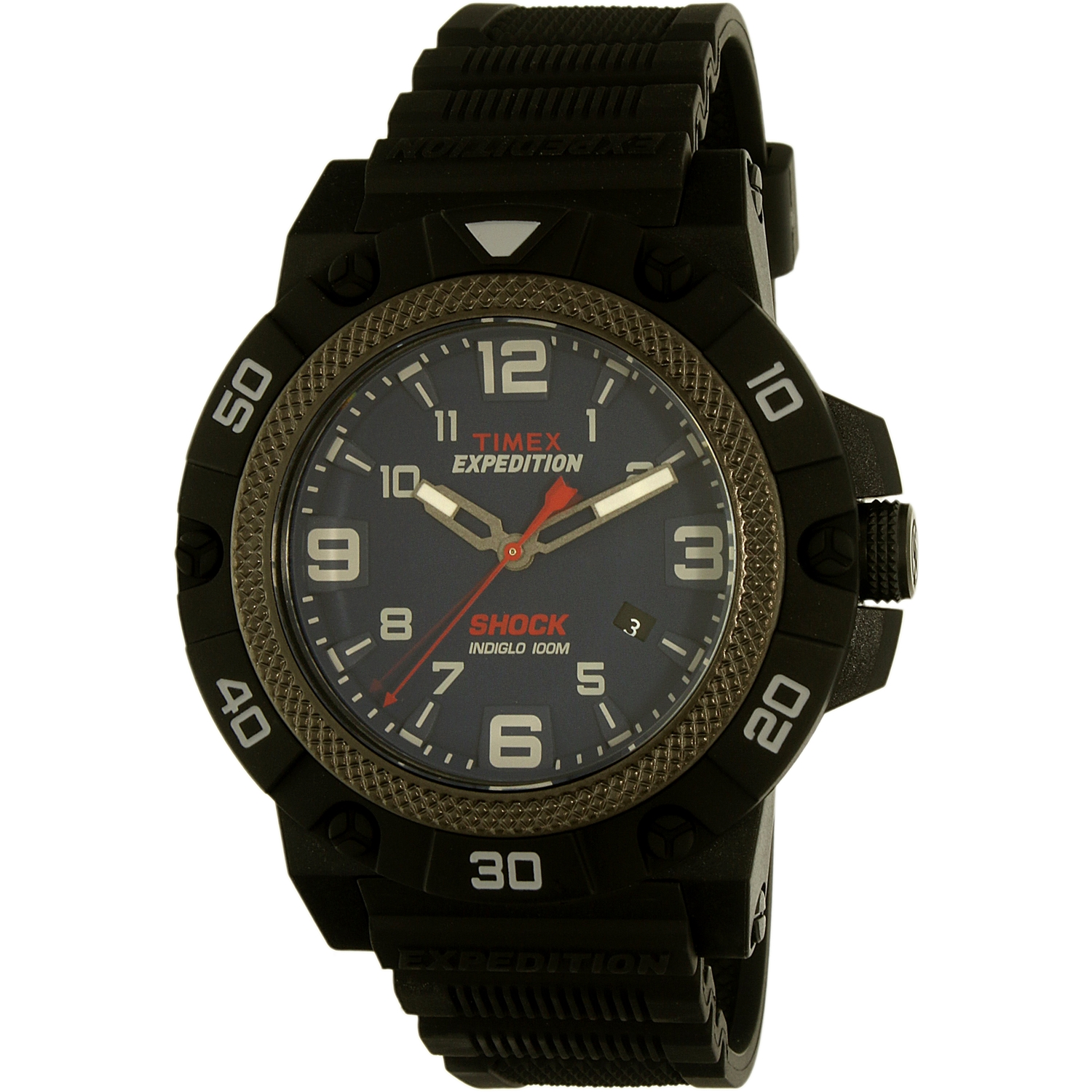 Timex Men's Expedition TW4B01100 Black Rubber Quartz Watch