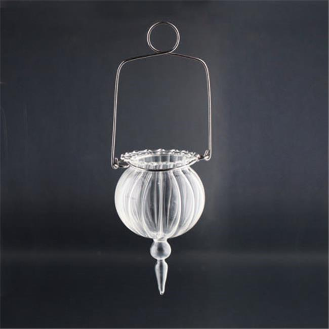 Diamond Star 64387 5 x 3.5 in. Glass Candle Holder, Clear