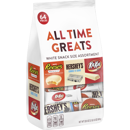 Hershey all time greats white snack size assortment, 32.5 oz (Kit Kat Halloween)