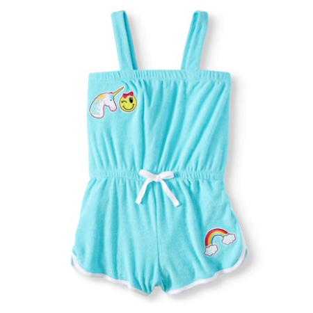 2ede7ad349 Pink Platinum - Unicorn Patches French Terry Romper Coverup (Little Girls &  Big Girls) - Walmart.com