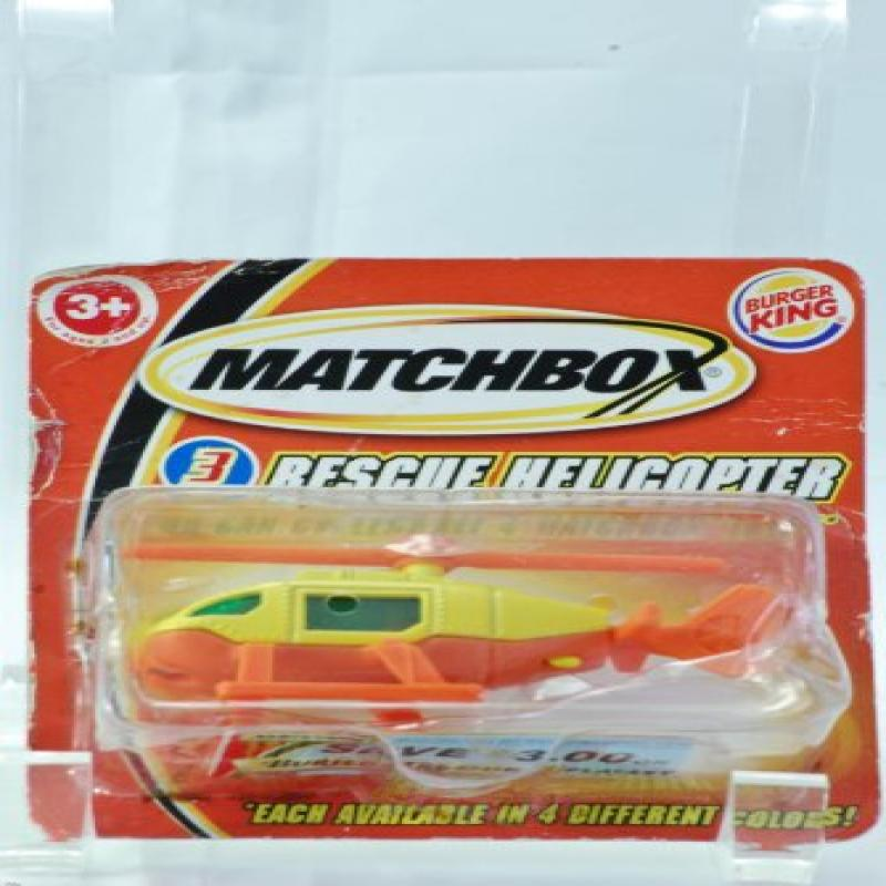 2004 Burger King   Mattel Matchbox Rescue Helicopter 1:64 Scale Die Cast Parts Rare OOP... by