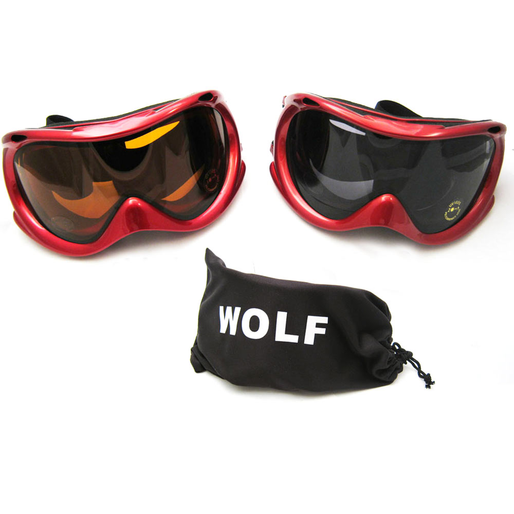 Dustproof Motorcycle Ski Snowboard Goggles Lens Sunglasses Anti-fog Mens Womens by Asia Pacific