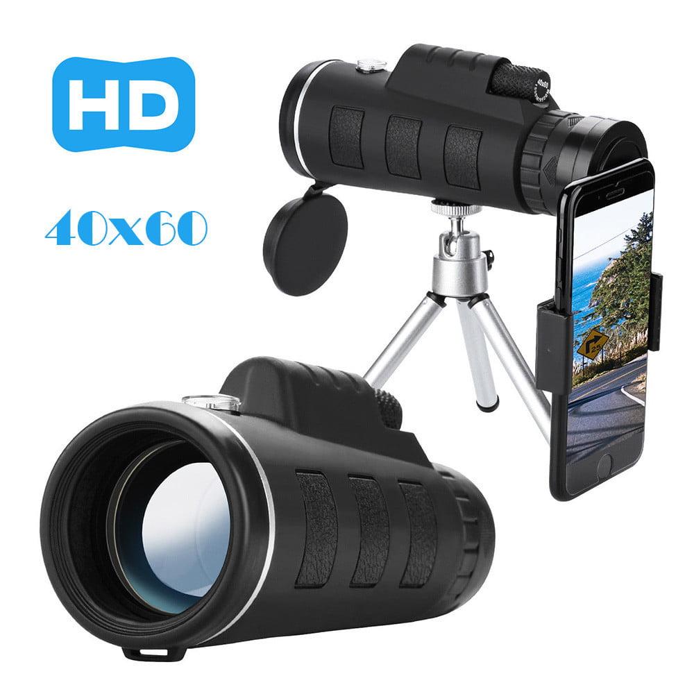 Tuscom 40X60 Zoom Optical HD Lens Monocular Telescope+ Tripod+ Clip For Universal Phone