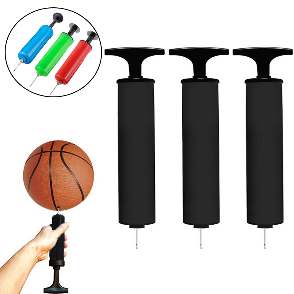 3 Handheld Air Pump Hand Inflator Needle Basketball Soccer Volley Ball Balloons
