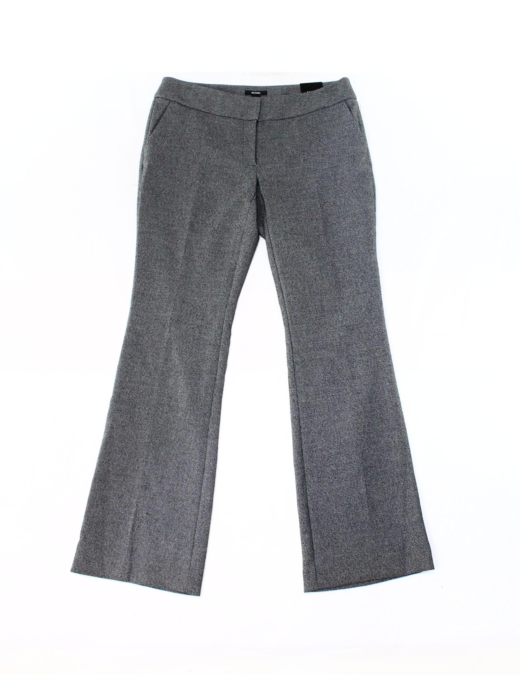 Alfani NEW Gray Womens Size 6 Bootcut Leg Marled Trouser Dress Pants