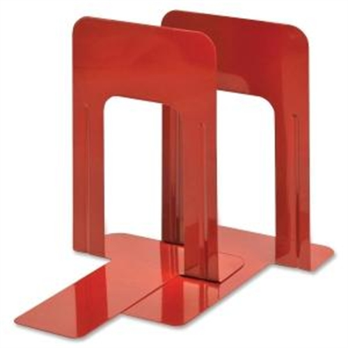"Steelmaster,9"" Deluxe Heavy Duty Bookends-Red"