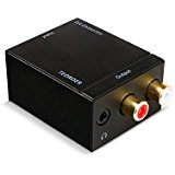 - Teorder Digital to Analog Audio Converter Optical Coaxial SPDIF Toslink to Analog Audio L_R RCA Adapter to 3.5mm