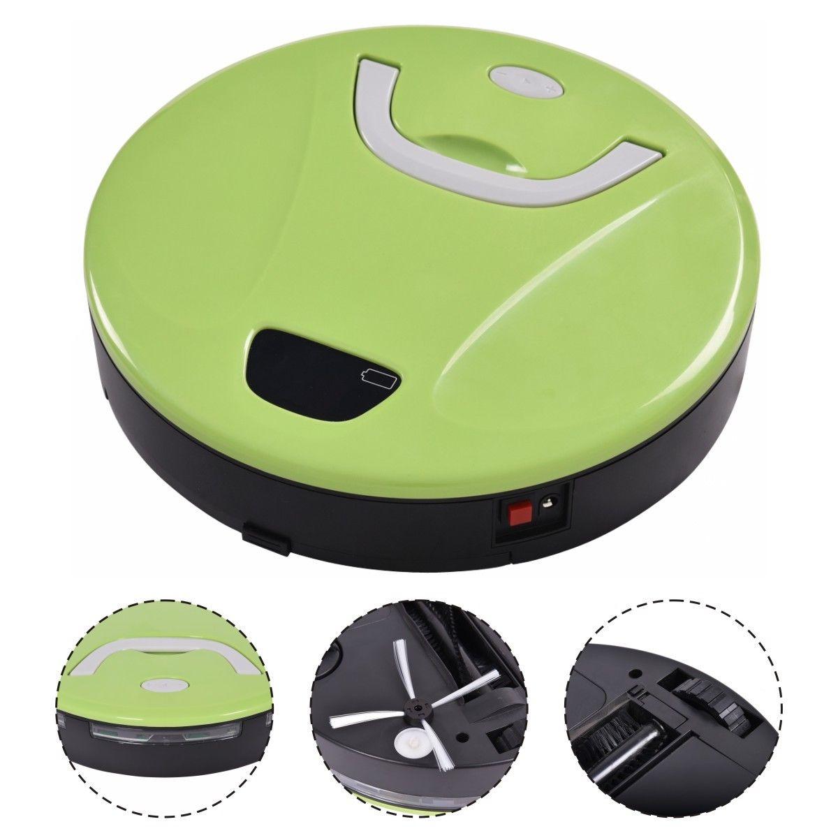 Costway Green Smart Cleaning Robotic Automatic Floor Clea...