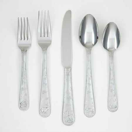 Cambridge Silversmiths Mountain Sand 20-Piece Flatware - Wallace Silversmiths Sterling Silver Spoon